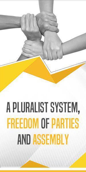 Iran Freedom Banner Pluralist System