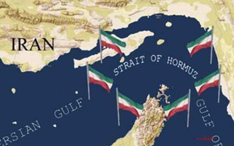 Image result for image of map shows part of strait of hormuz owned by iran