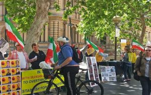 Iranian resistance's supporters' campaign in EU & Canada in support of Iranian protesters