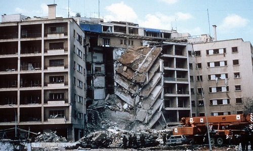 US Embassy bombing in Beirut, directed by Hezbollah and financed by Iran