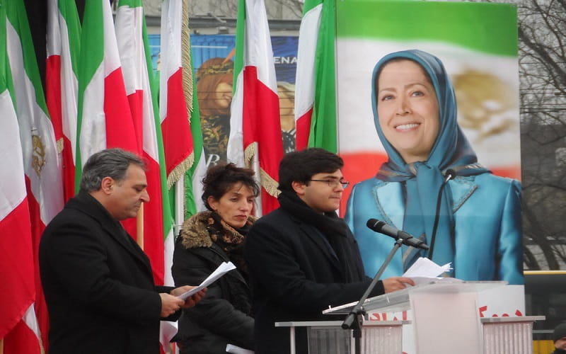 Iranian opposition rally in Warsaw against Iran's regime