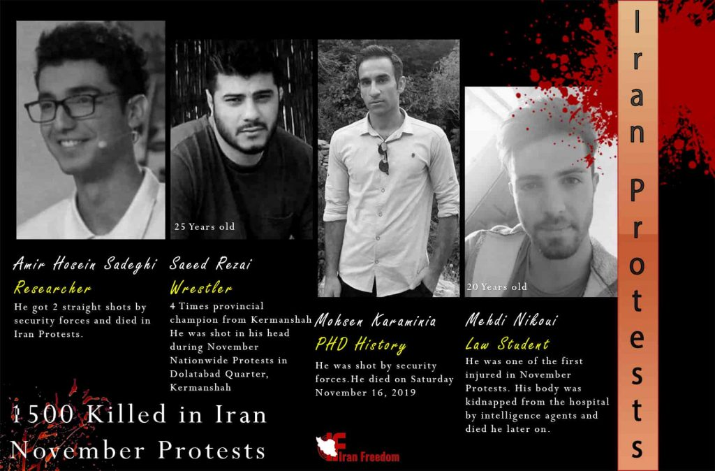 Athletes and academics killed by Iranian security forces