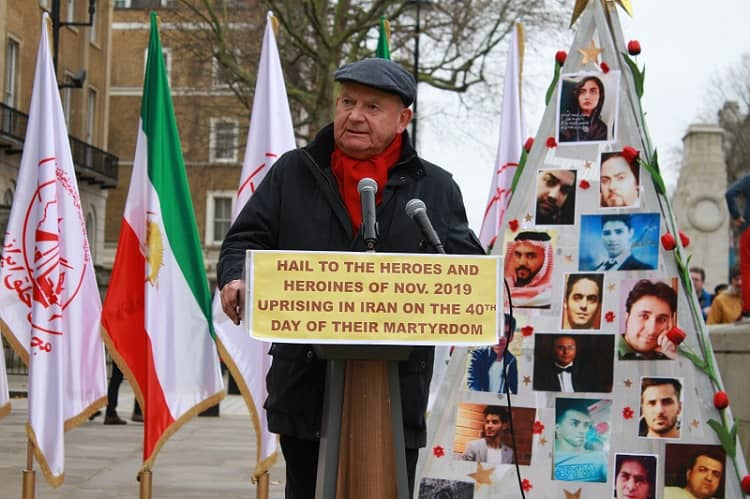 Supporters of MEK/PMOI in London commemorate martyrs of Iran protests