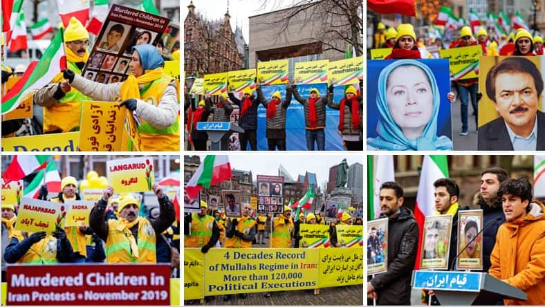 People's Mojahedin Organization supporters in Amsterdam