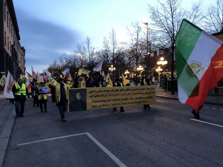 Supporters of MEK/PMOI in Sweden commemorate martyrs of Iran protests