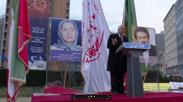 Iranians, NCRI supporters in Brussels
