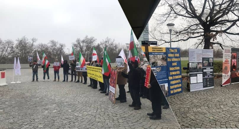 MEK and NCRI supporters in vienna