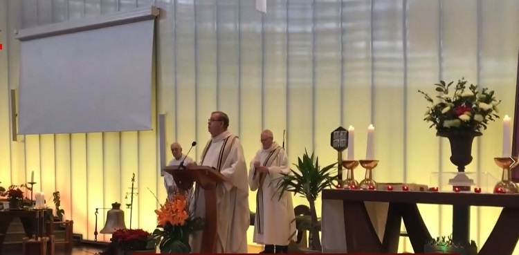 Father Derni, at the ceremony honoring martyrs of the Iran protests, organized by the MEK supporters in Netherlands.