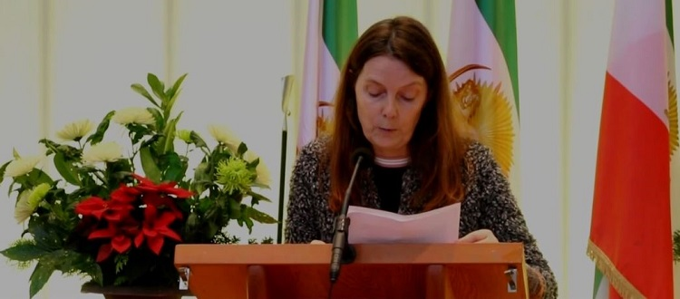 The other speaker in MEK supporters' meeting in Hague was Mrs. Corinne Mitterrand.