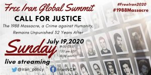Free Iran Global Summit discussing about the 1988 massacre