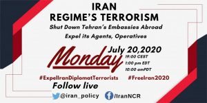 Free Iran 2020 Global Summit discussing the scope of the Iranian regime's terrorism across the globe