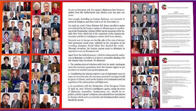 More Than 70 Members of Parliament Across Europe Call for an End to Iran Regime Terrorist Acts on European Soil