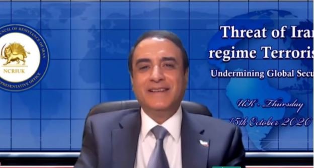 Hossein Abedini, member of the NCRI Foreign Affairs Committee, in the Iranian opposition NCRI online conference—October 15, 2020