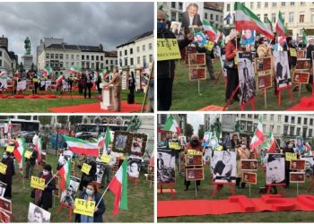 On October 1, 2020, Iranians supporters of the National Council of Resistance of Iran(NCRI) and the Peoples Mojahedin Organization of Iran(PMOI/MEK) gathered in front of the EU headquarter in Brussels in Place de Luxembourg. In this rally Iranians condemned violations of the human rights by the mullahs' regime.