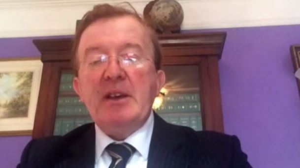 Former Irish minister John Perry in the Iranian opposition NCRI online conference—October 15, 2020