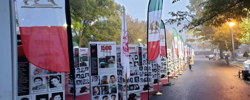 The photo exhibition held on Iran's regime crime against Iranian people in Washington DC in front of the U.S. State Department - October 21, 2020 - 2