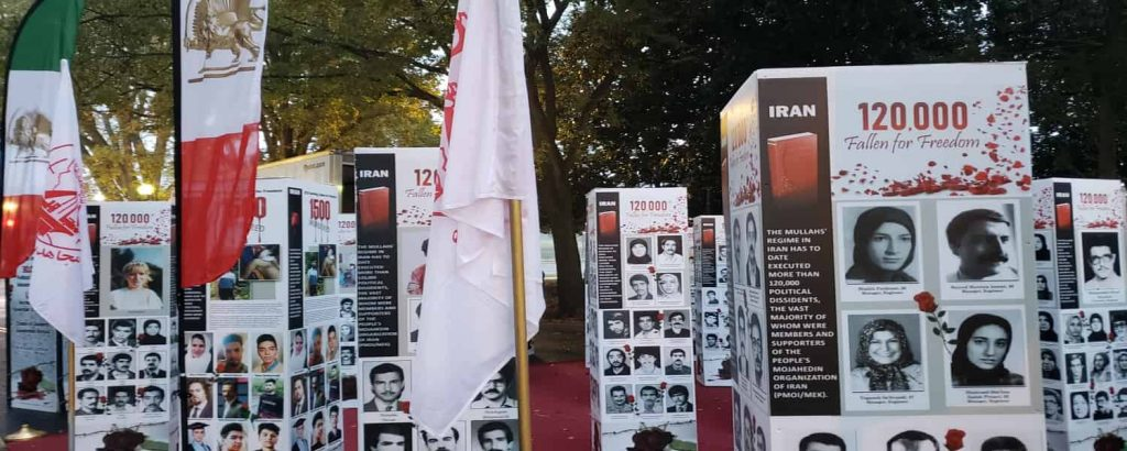 The photo exhibition held on Iran's regime crime against Iranian people in Washington DC in front of the U.S. State Department - October 21, 2020-4