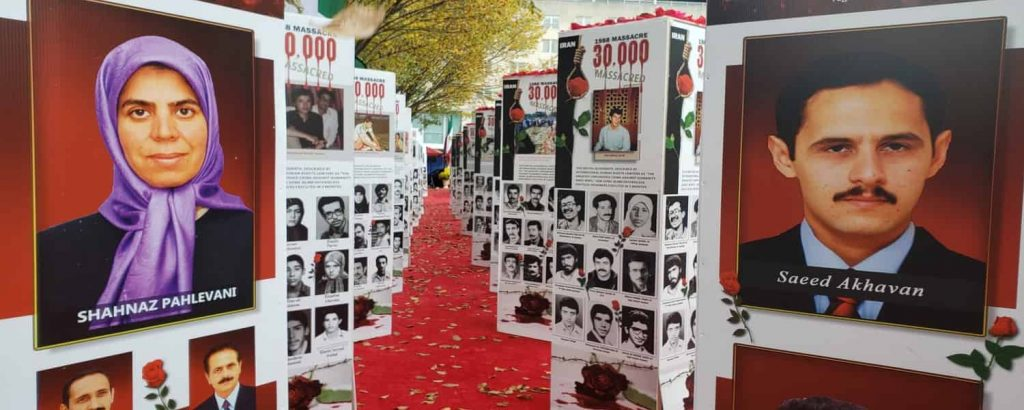 The photo exhibition held on Iran's regime crime against Iranian people in Washington DC in front of the U.S. State Department - October 21, 2020-3