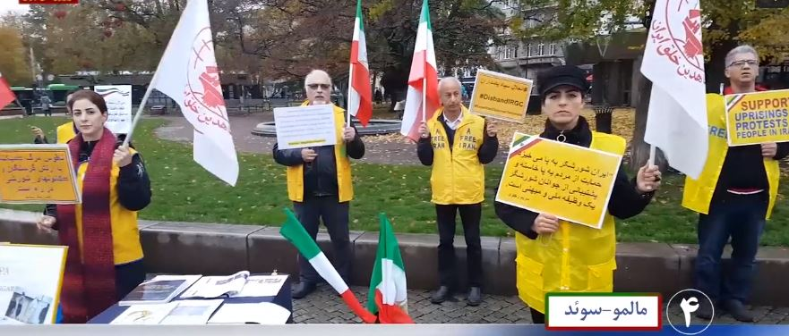 Demonstrations by supporters of the Iranian resistance in Malmo, Sweden