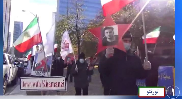 Demonstrations by supporters of the Iranian resistance in Toronto