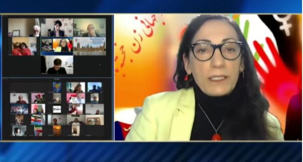 Zinat Mirhashemi, member of the NCRI and the Central Committee of the Cherik-hay-e Fedaii Organization (OIPFG)