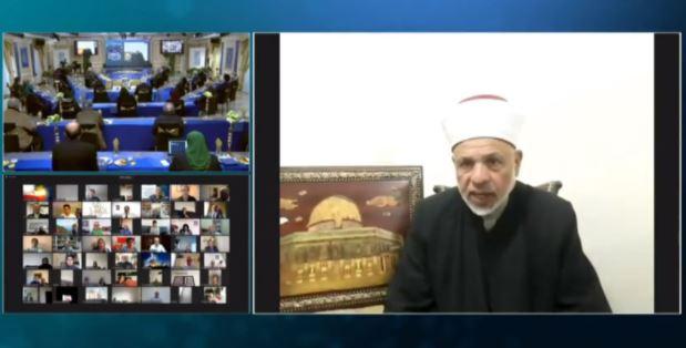 Sheikh Taissir Tamimi, chief Islamic judge of the Palestinian National Authority (PNA)