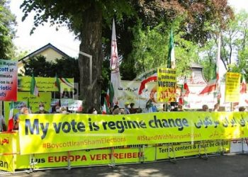 June 18, 2021: Iranian supporters of the People's Mojahedin Organization of Iran (PMOI/MEK) and the National Council of Resistance of Iran (NCRI) held rallies in European Cities (Berlin, Munich, Paris, Hague, Vienna, London, Brussels) and in Australia against the dictatorship in Iran.