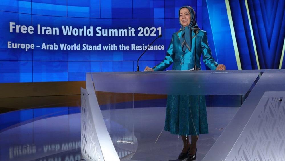 Maryam Rajavi - 2nd day of the Free Iran World Summit; Europe – Arab World Stand with the Resistance - July 11, 2021