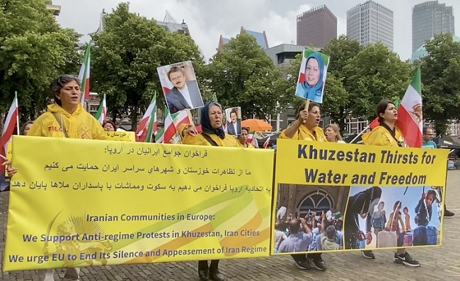 The Netherlands Rally to Support the Khuzestan Uprising. They Called for International Pressure on Iran's Regime- July 26, 2021