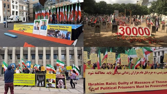 August 3, 2021, Rallies in the Various Countries Against Ebrahim Raisi the Henchman by the Supporters of the MEK