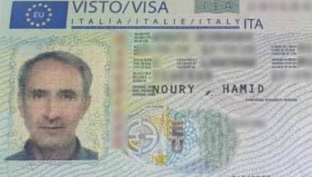 Hamid Noury Visa to Italy