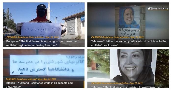 Activities of the MEK Resistance Units Across Iran — September 2021