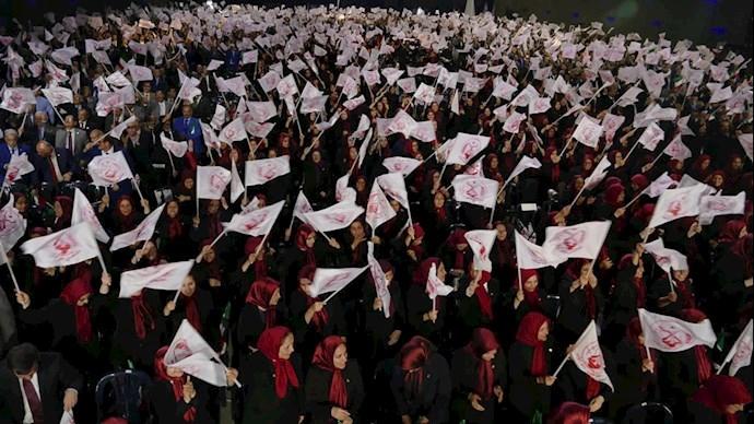 Gathering of members of People's Mojahedin Organization of Iran (PMOI-MEK) in Ashraf 3, Albania