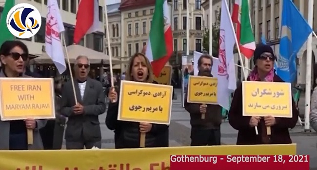 Gothenburg Rally by the MEK Supporters — September 18, 2021