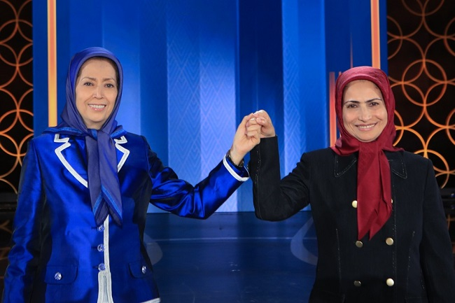 The President-elect of the National Council of Resistance of Iran (NCRI), Mrs. Maryam Rajavi  and Ms. Zahra Merrikhi Secretary General of the PMOI/MEK