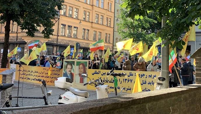 Iranians, Supporters of the MEK Staged a Demonstration in Stockholm, Sweden — September 14, 2021 – 1