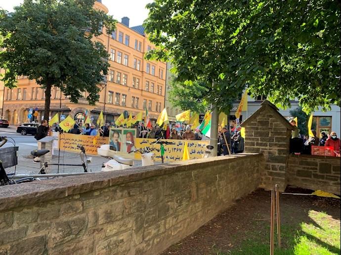 Iranians, Supporters of the MEK Staged a Demonstration in Stockholm, Sweden — September 14, 2021 – 8