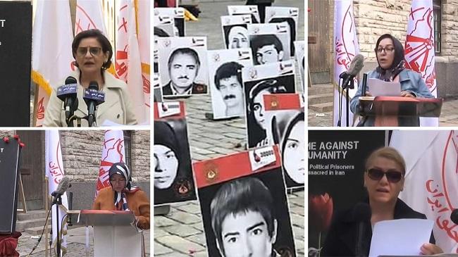 Speeches by Soheila Dashti,  Laya Gohari, Batool Majani and  Fatemeh KhazAli to the rally in Stockholm — September 2021