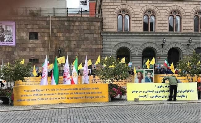 Stockholm Rally by the MEK Supporters — September 8, 2021 – 1