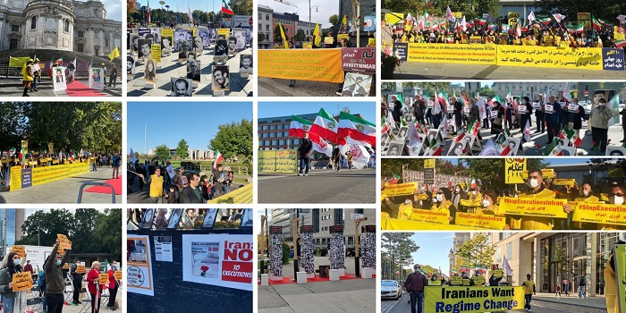 The World Day Against Death Penalty — Demonstrations by the MEK Supporters — October 10